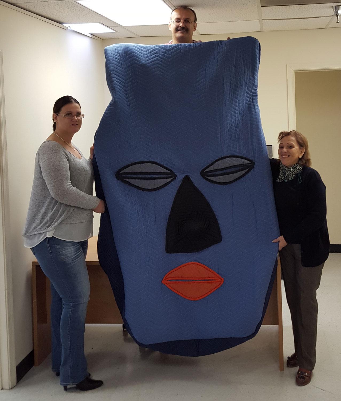 Custom Blanket cover - mask